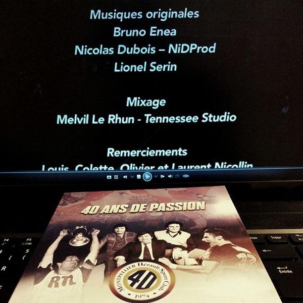 """2014 - Composition de la BO du film """"40 ans de passion MHSC"""""""