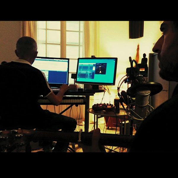 """2015 - Menton - Journée d'enregistrement et réalisation pour l'album de St Aubin """"Libre comme l'art"""". Réalisation : René de Wael"""