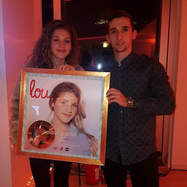 Tour TF1 - Janvier 2018 - Remise du disque d'or de Lou pour son album, sur lequel j'ai eu l'honneur de composer et topliner 3 titres.
